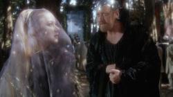 Helen Mirren and Nicol Williamson in Excalibur.