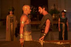 Joel Edgerton and Christian Bale in Exodus: Gods and Kings.