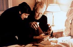Jason Miller and Max von Sydow in The Exorcist.