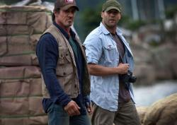 Sylvester Stallone and Jason Statham in The Expendables.