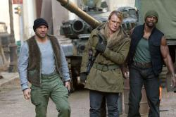 Randy Couture, Dolph Lundgren and Terry Crews in The Expendables 2