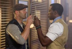 Jason Statham and Wesley Snipes compare knives in The Expendables 3.