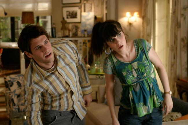 Justin Bartha and Zooey Deschanel in Failure to Launch