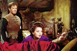 Stephen Boyd, Sophia Loren and Alec Guinness in The Fall of the Roman Empire.