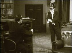 Edmund Breon and Rene Navarre in Fantomas - In the Shadow of the Guillotine.