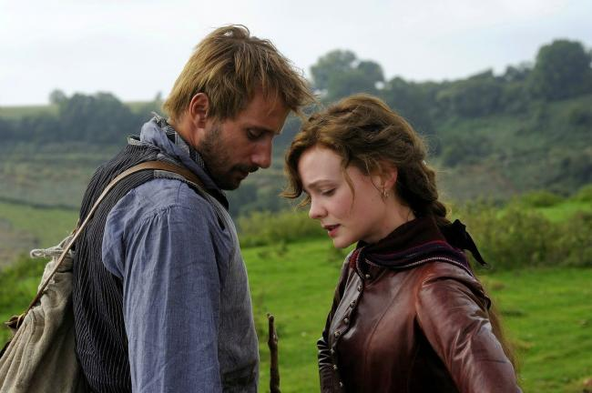 Matthias Schoenaerts and Carey Mulligan in Far from the Madding Crowd.