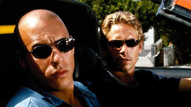 Vin Diesel and Paul Walker in The Fast and the Furious.