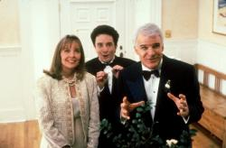 Diane Keaton, Martin Short, and Steve Martin in Father of the Bride.