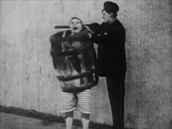 Fatty Arbuckle and Slim Summerville in Fatty's Magic Pants.
