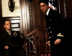 Jack Nicholson and Tom Cruise in A Few Good Men.