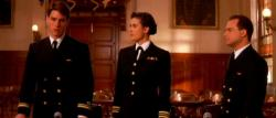 Tom Cruise, Demi Moore, and Kevin Pollak in A Few Good Men.