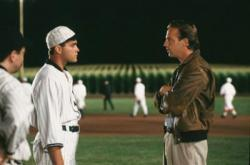 Ray Liotta and Kevin Costner in Field of Dreams.