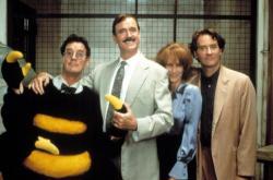 Michael Palin John Cleese, Jamie Lee Curtis and Kevin Kline reunite in Fierce Creatures.