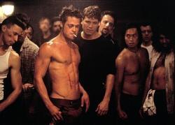 Brad Pitt in Fight Club.