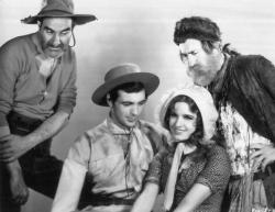 Ernest Torrence, Gary Cooper, Lili Damita and Tully Marshall in Fighting Caravans.