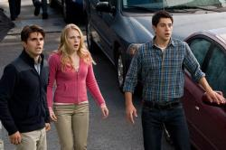 Miles Fisher, Emma Bell and Nicholas D'Agosto in Final Destination 5.
