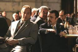 Vin Diesel and Peter Dinklage in Find Me Guilty.