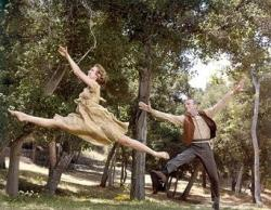 Barbara Hancock and Fred Astaire in Finian's Rainbow.