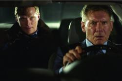 Paul Bettany and Harrison Ford in Firewall.