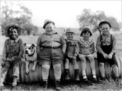 Our Gang; Farina, Petey, Chubby, Wheezer, Mary Ann and Jackie