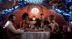 Robin Williams, Mercedes Ruehl, Jeff Bridges, and Amanda Plummer in The Fisher King.