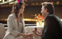 Emily Blunt and Jason Segal in The Five-Year Engagement.