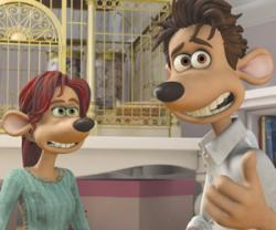 Kate Winslet and Hugh Jackman provide the voices of Rita and Roddy in Flushed Away.