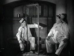 Stan Laurel and Oliver Hardy in The Flying Deuces.