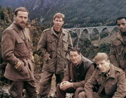 Franco Nero, Harrison Ford, Robert Shaw, Edward Fox and Carl Weathers in Force 10 from Navarone.