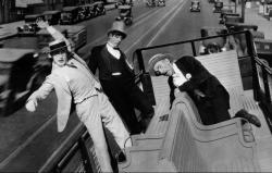 Harold Lloyd races to his wedding in For Heaven's sake.