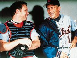 John C. Reilly and Kevin Costner in For Love of the Game.