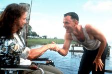 Gary Sinise as Lt. Dan Taylor and Tom Hanks as Forrest Gump.