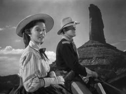 Shirley Temple and John Agar in Fort Apache.