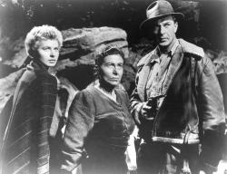 Ingrid Bergman, Katina Paxinou, and Gary Cooper in For Whom the Bell Tolls.