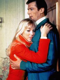 Lynn-Holly Johnson and Roger Moore in For Your Eyes Only.