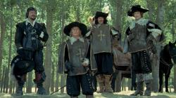 Oliver Reed, Michael York, Frank Finlay, and Richard Chamberlain are The Four Musketeers.