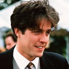 Hugh Grant in the role that made him a star in Four Weddings and a Funeral.