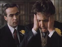 John Hannah and Hugh Grant in Four Weddings and a Funeral