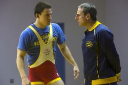 Channing Tatum and Steve Carell in Foxcatcher.