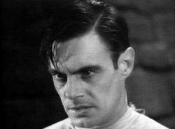 Colin Clive as Dr. Frankenstein in Frankenstein.