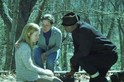 Julianne Moore, Edie Falco and Samuel L. Jackson in Freedomland.