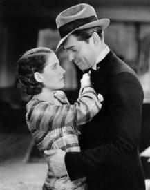 Norma Shearer gets willingly manhandled by Clark Gable in A Free Soul.