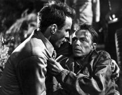 Montgomery Clift and Frank Sinatra in From Here to Eternity.