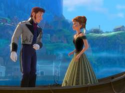 Santino Fontana and Kristen Bell provide the voices of Hans and Anna in Frozen