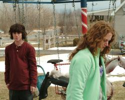 Charlie McDermott and Melissa Leo in Frozen River.