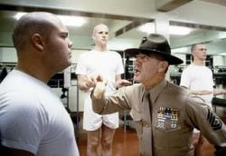 Vincent D'Onofrio, Matthew Modine and R. Lee Ermey in Full Metal Jacket