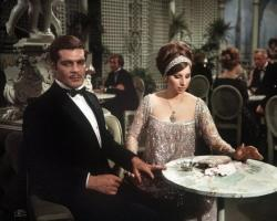 Barbra Streisand and Omar Sharif in Funny Girl.