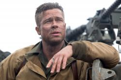 Brad Pitt in Fury.