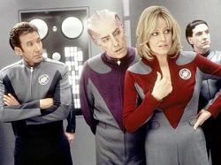 Tim Allen, Alan Rickman and Sigourney Weaver in Galaxy Quest.