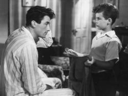 Gregory Peck and Dean Stockwell in Gentleman's Agreement.